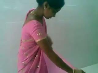 Telugu roosa saree