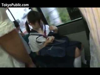Japonesa escola bebês obter cumshots público
