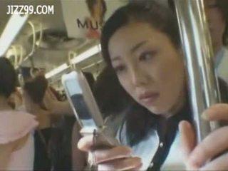 Mosaic; 巨乳 anthomaniac ol 在 火車 gives geek