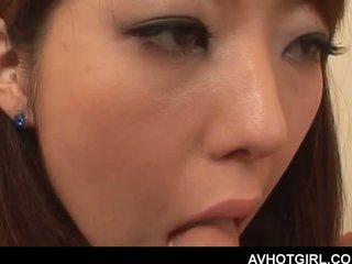 Erótico asiática escuela muñeca giving mamada y getting boo