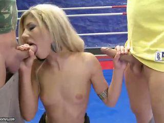 hardcore sex chất lượng, anh blowjobs kiểm tra, vui vẻ cô gái tóc vàng xem