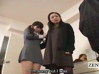 Subtitle cfnm japansk skolejente og milf fangst peeper