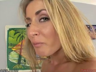Cum eating pirang abby cross fucked in throat