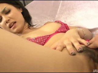 Pohlaví s asijské chlupatý gal