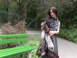 Eroberlin Sexy Open Public Maria Russian Long Hair Teen Upskirt