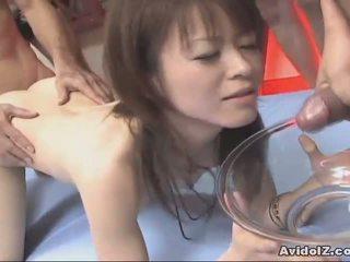 Wild Ai Himeno gets a nasty creampie