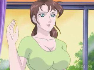 Busty manga girl taken by nerd