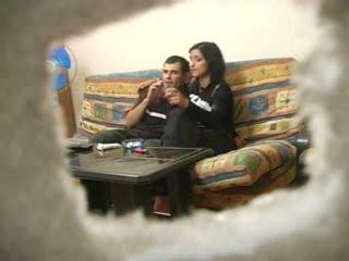 Amatöör türgi abielunaine koos vene mees kuigi hubby was ära