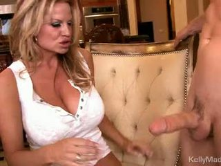 Milf kelly madison takes a fleshy pipe up soaked slot