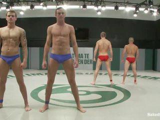 sexo grupal, sexo gay homem grande, sexo gay men in bed