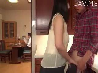 japansk, stora bröst, avsugning