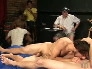 A New Year At College Brings A New Year Of Back To School Parties This Party Has A Bit Of A Twist Though Instead Of A Contest Involving Best Chest Or Ass These College Freshmen Decide It Would Be More Fun To Have A Best Cock Contest Cocks Come Out And The
