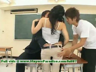 Sora aoi innocent seksowne japońskie student jest getting fucked