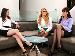 lesbian, babes, threesomes