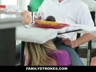 Family Strokes- Step-Mom Teases And Fucks Step-Son