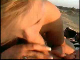 hot stimulating chick fucked on the be...