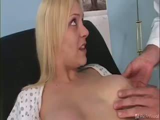 big boobs, uniform, blonde