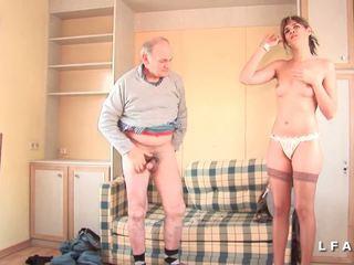 ranskalainen, threesomes, vanha + young