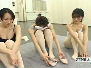 Subtitled enf warga jepun ballerinas stark telanjang stripping