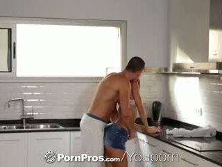 PornPros - Teen redhead Carol Vega gets pussy fucked in the kitchen
