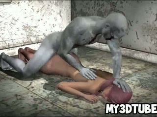 Hot 3D Babe Takes A Zombie Cock In Her Wet Pussy