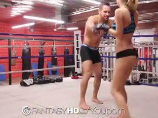Hd fantasyhd - natalia starr wrestles henne måte til faen session
