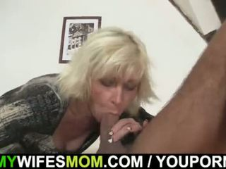 Blond mother-in-law seduces me but wif...