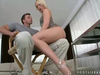 blowjob, high heels, foot fetish