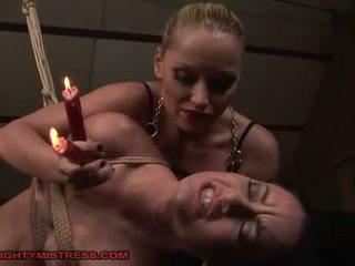 Domina punishing slave girl