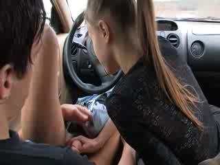 Elegant mamada en mi coche