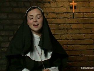 Erotik rahib has tied sehingga dan bumped kasar oleh two persons