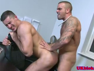 Damien Crosse fucks Jay Roberts on table
