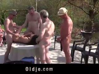 Anita bellini gang banged by 8 old mesum cocks