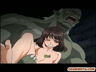 Hentai prinses brutally groupfucked door getto monsters