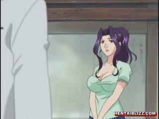 Mama japonské hentai gets squeezed ju bigboobs