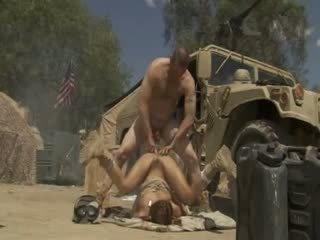 Excited Jadra Holly Receives Fucked Hard And Cummed By An Army Soldier