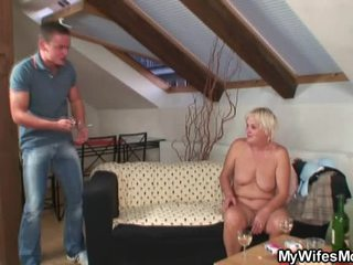 Freaky Oldie Opens Legs For Son In Law