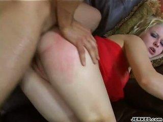 Panas emas haired aaralyn barra receives beliau ketat pantat/ punggung rammed keras