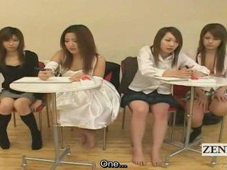 Subtitled ญี่ปุ่น สมัครเล่น quiz เกมส์ friends ชม เพศ