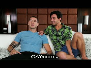 Gayroom - tw-nks get lucky on strip and fuck