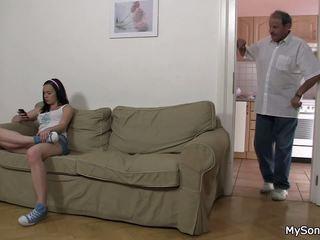נערה ברכיבה אב inlaw זין, חופשי נוער פורנו 26