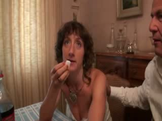 French milf dped in Panty Hose