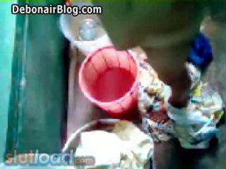 Bengali μαμά bath captured με γιός (real)