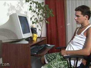 B-y jiklamak geý video and stroking off