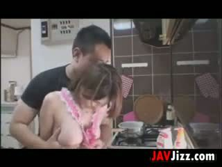 Japanese Babe Loves To Fuck In The Kitchen