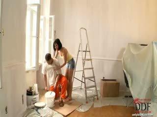 Abbie cat sucks 该 painter
