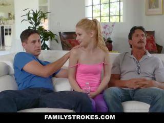 Familystrokes - bionda arrapato casalinga fucks stepson
