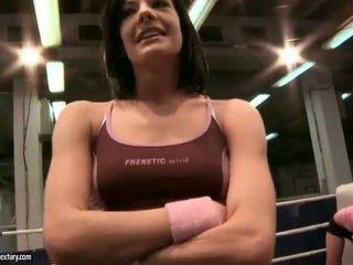 brunette check, fresh lesbian best, lesbian fight see