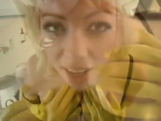 Adrianna Nicole in Yellow Rubber Gloves - Porn Video 841