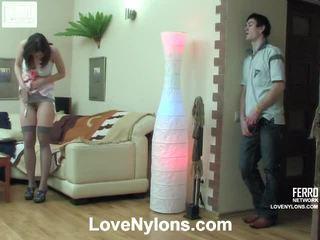Jaclyn dhe vitas ardent çorape të gjata video aktivitet